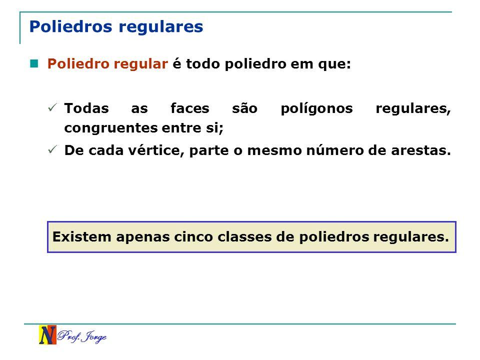 Poliedros regulares Poliedro regular é todo poliedro em que: