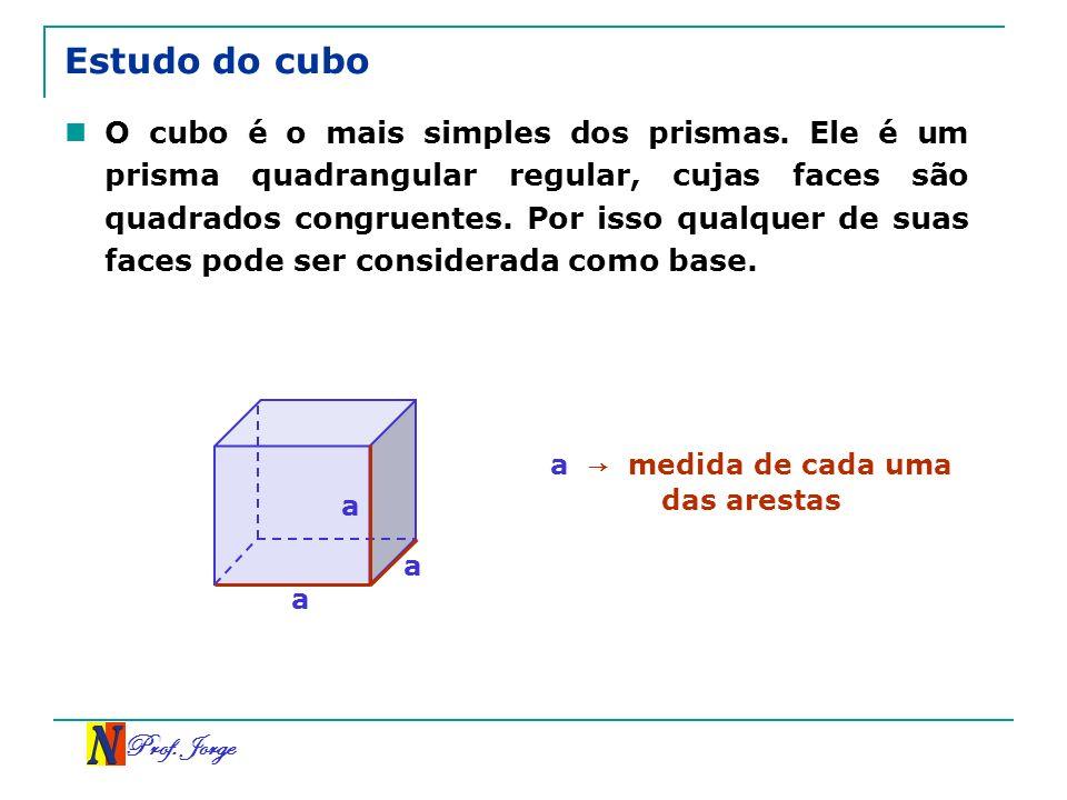 a → medida de cada uma das arestas