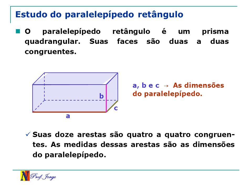 Estudo do paralelepípedo retângulo