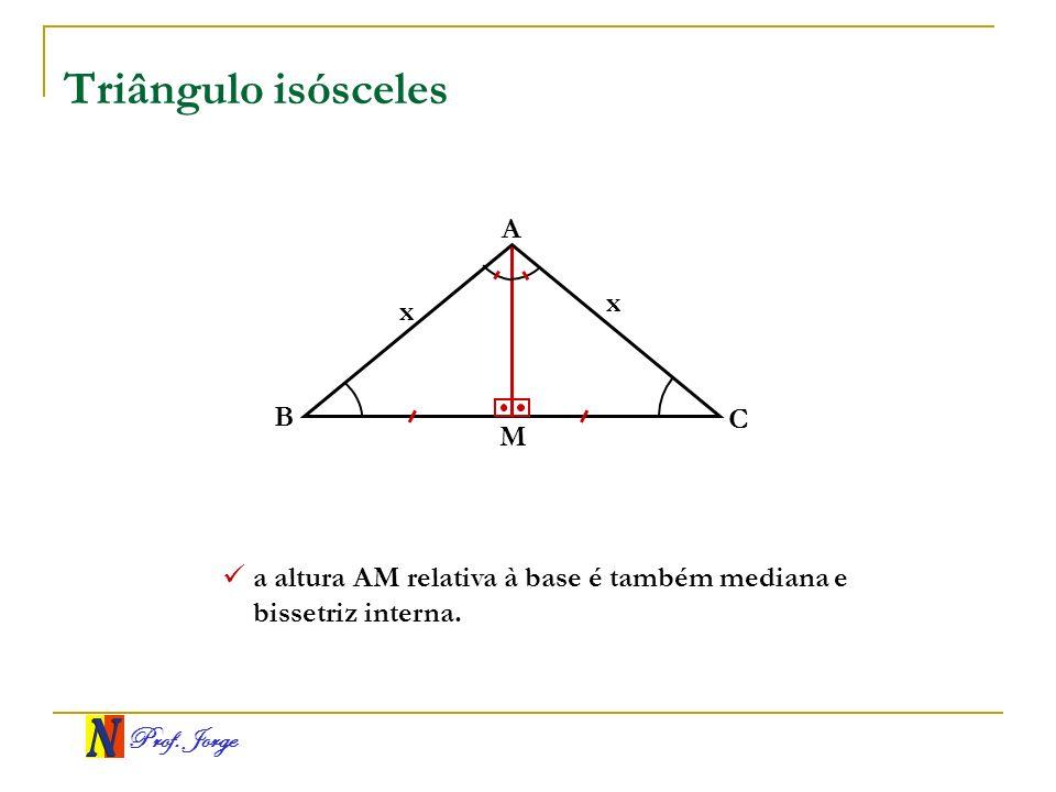 Triângulo isósceles A x x B C M
