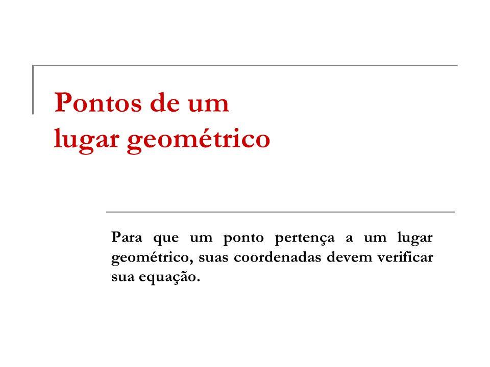 Pontos de um lugar geométrico