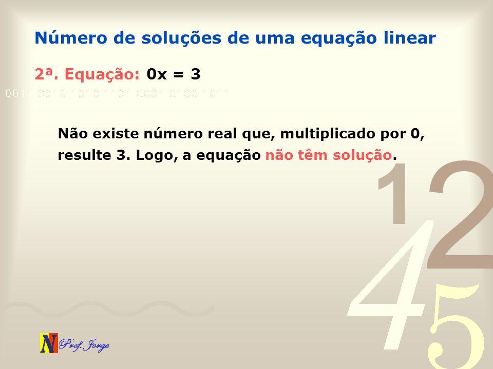 Número de soluções de uma equação linear