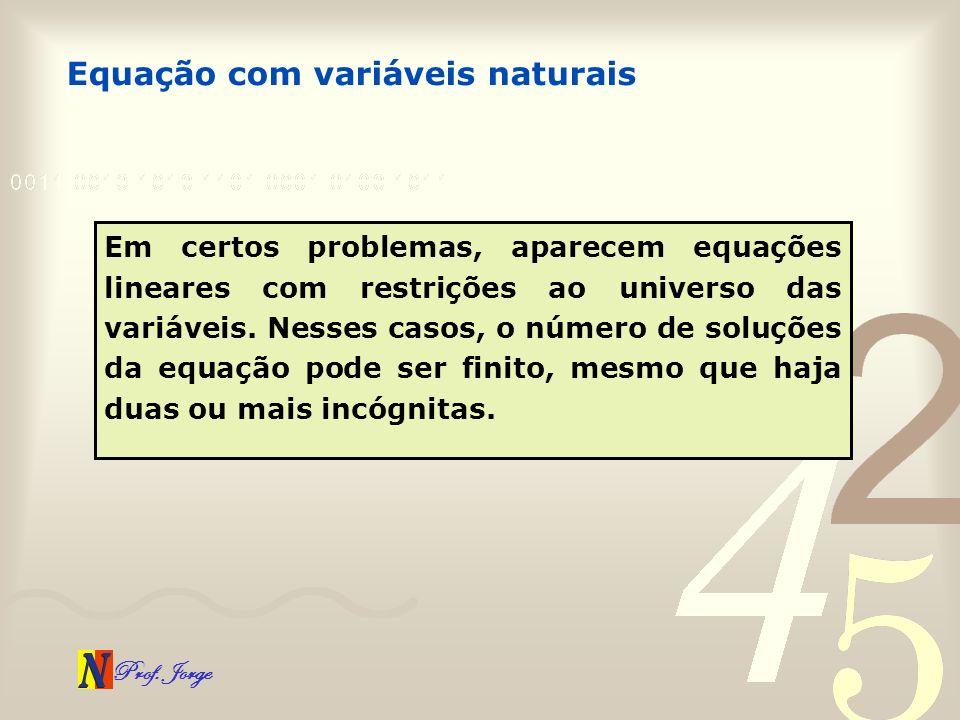 Equação com variáveis naturais