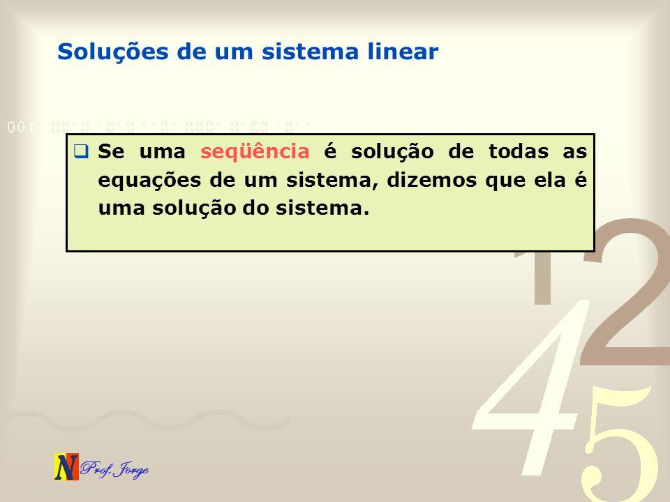 Soluções de um sistema linear