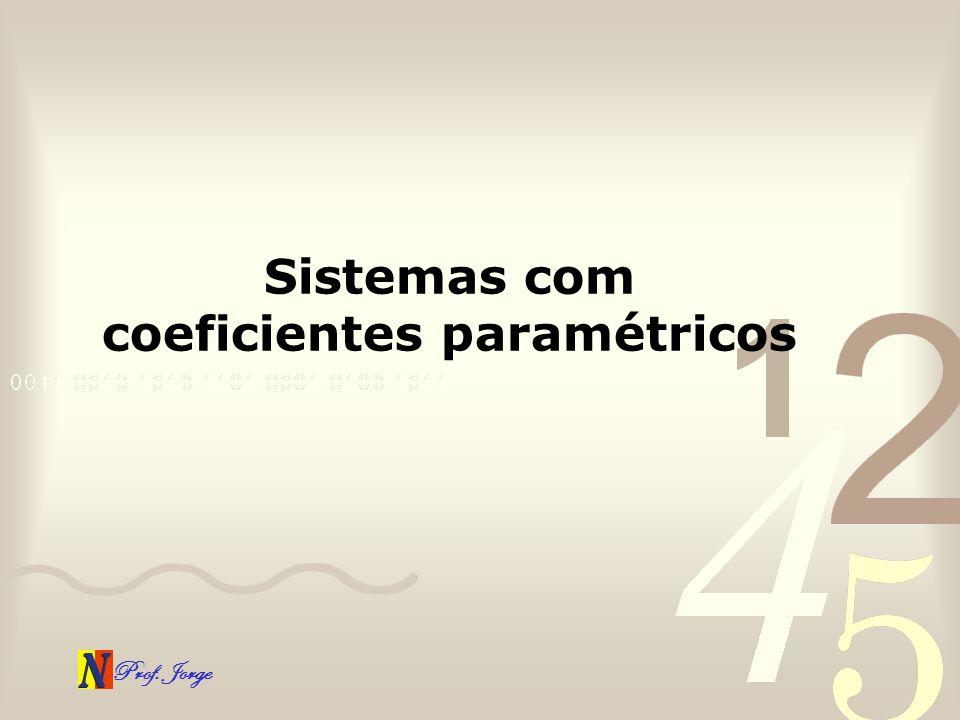 Sistemas com coeficientes paramétricos