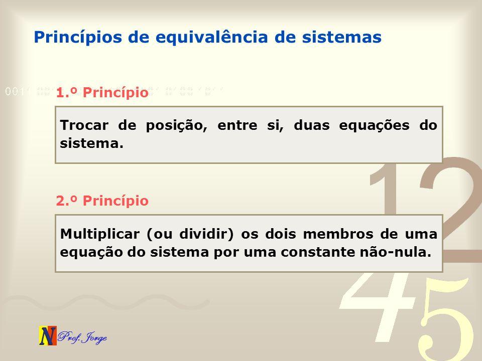 Princípios de equivalência de sistemas