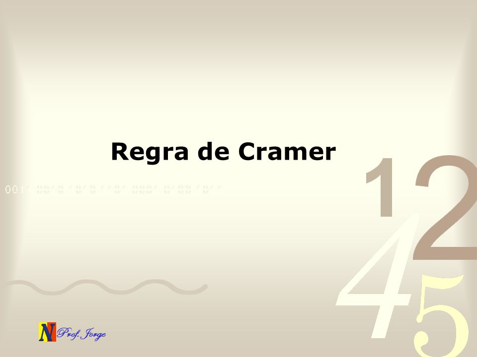 Regra de Cramer