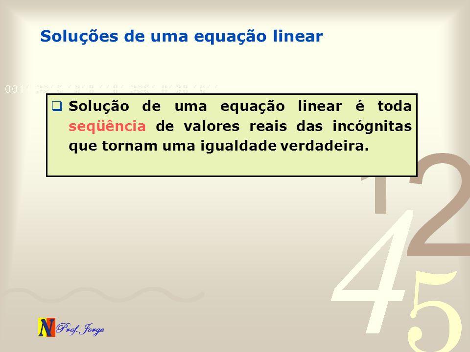 Soluções de uma equação linear