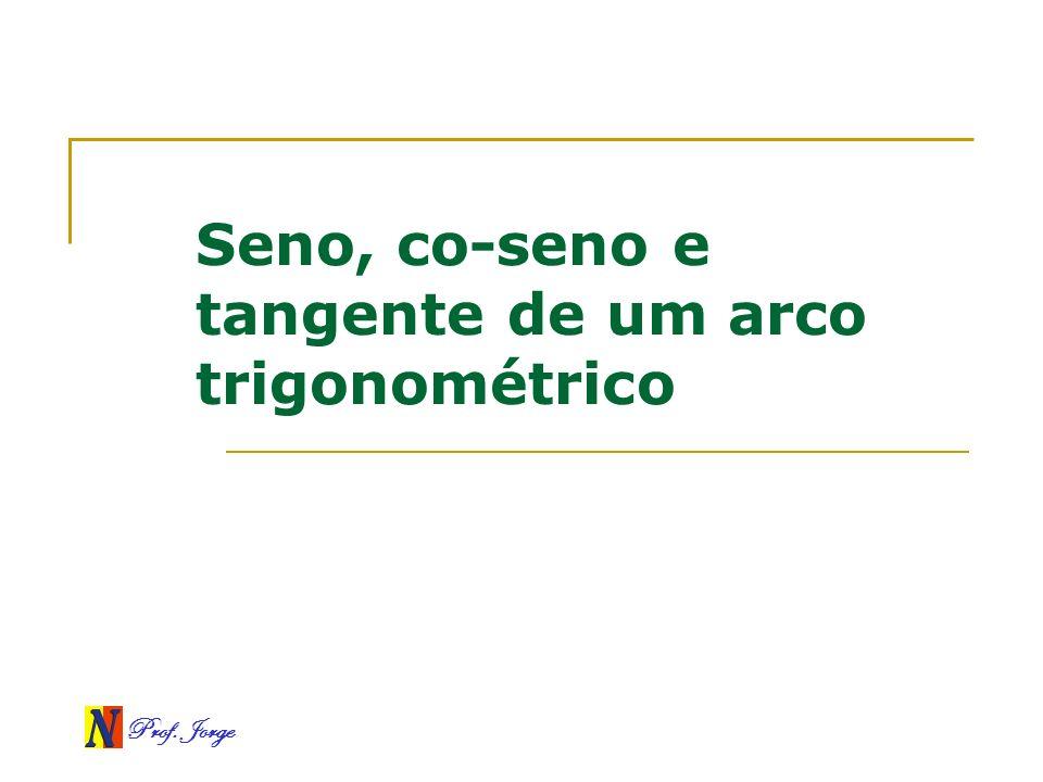 Seno, co-seno e tangente de um arco trigonométrico