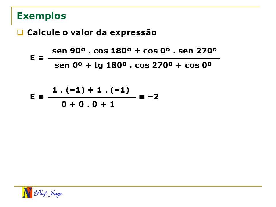 Exemplos Calcule o valor da expressão