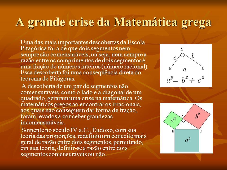 A grande crise da Matemática grega