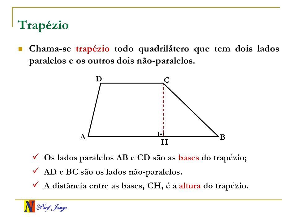 Trapézio Chama-se trapézio todo quadrilátero que tem dois lados paralelos e os outros dois não-paralelos.