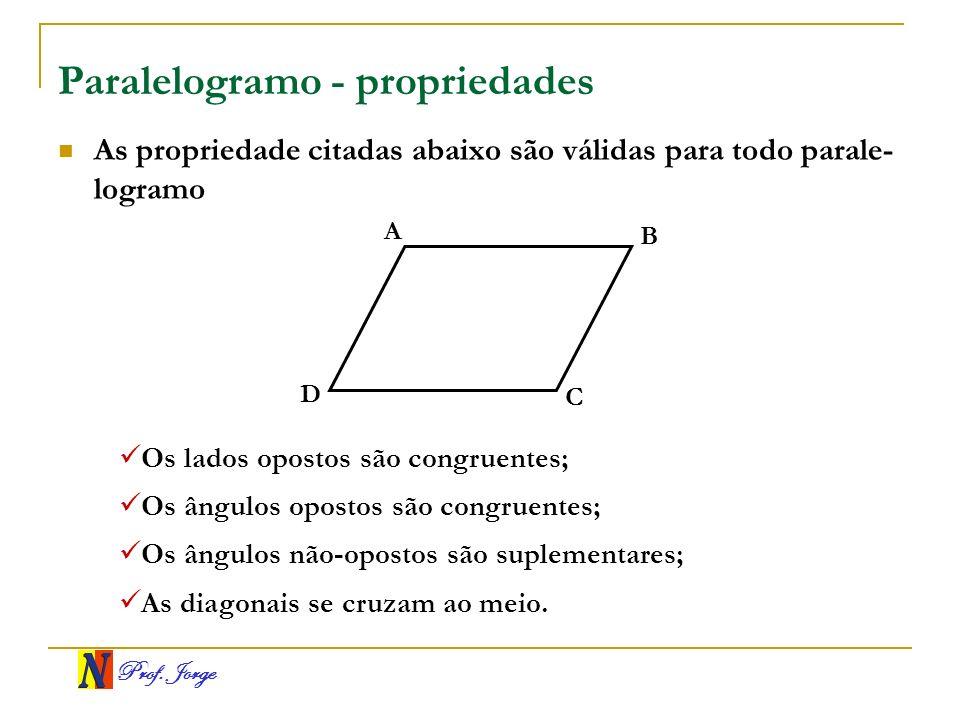 Paralelogramo - propriedades