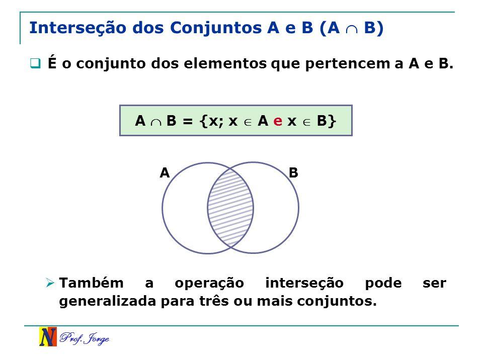 Interseção dos Conjuntos A e B (A  B)