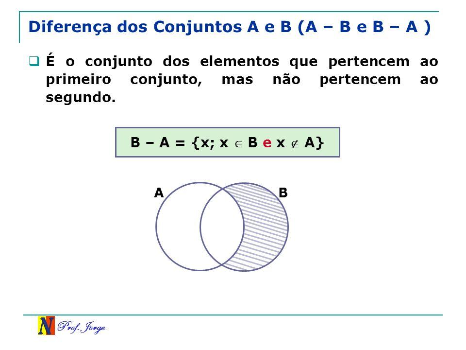 Diferença dos Conjuntos A e B (A – B e B – A )
