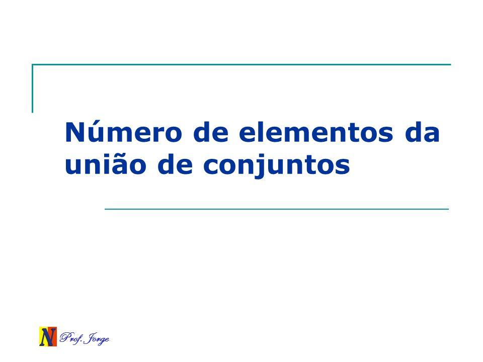 Número de elementos da união de conjuntos