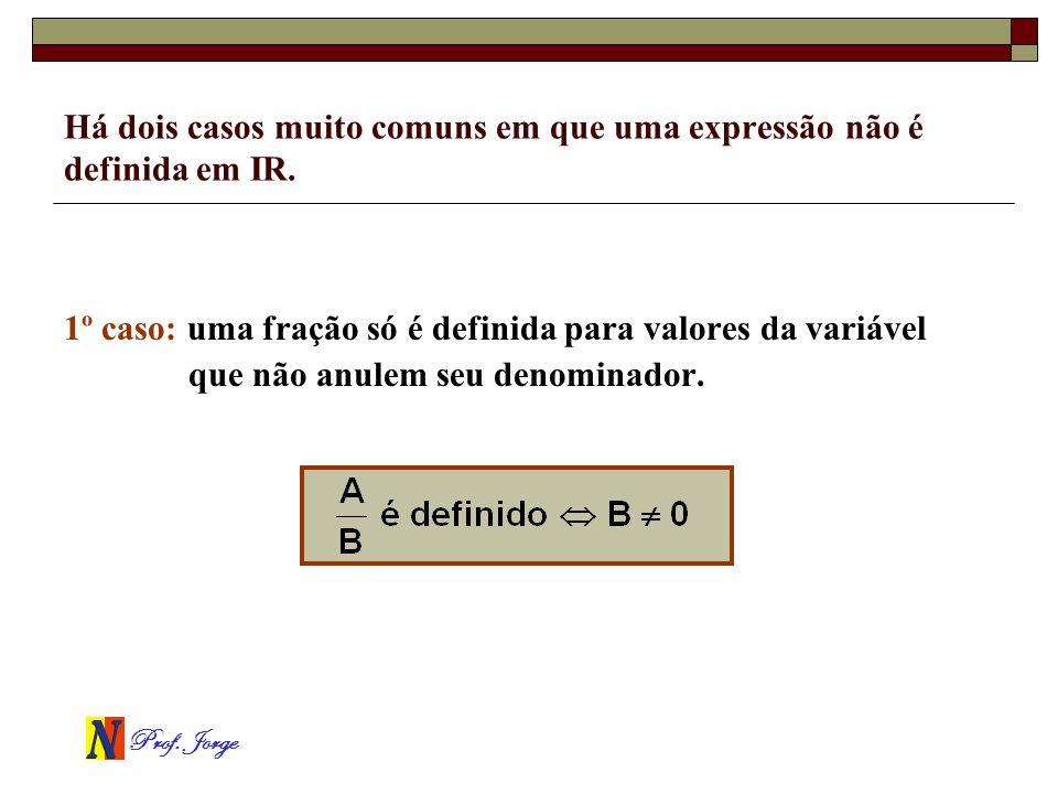 Há dois casos muito comuns em que uma expressão não é definida em IR.