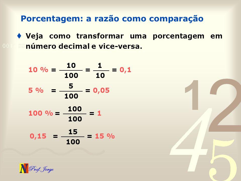 Porcentagem: a razão como comparação