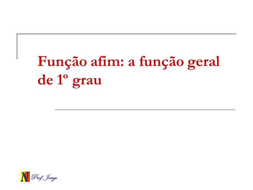 Função afim: a função geral de 1º grau