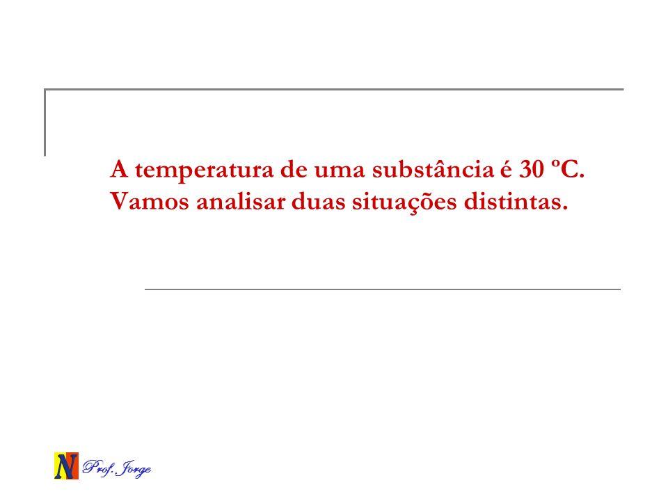 A temperatura de uma substância é 30 ºC