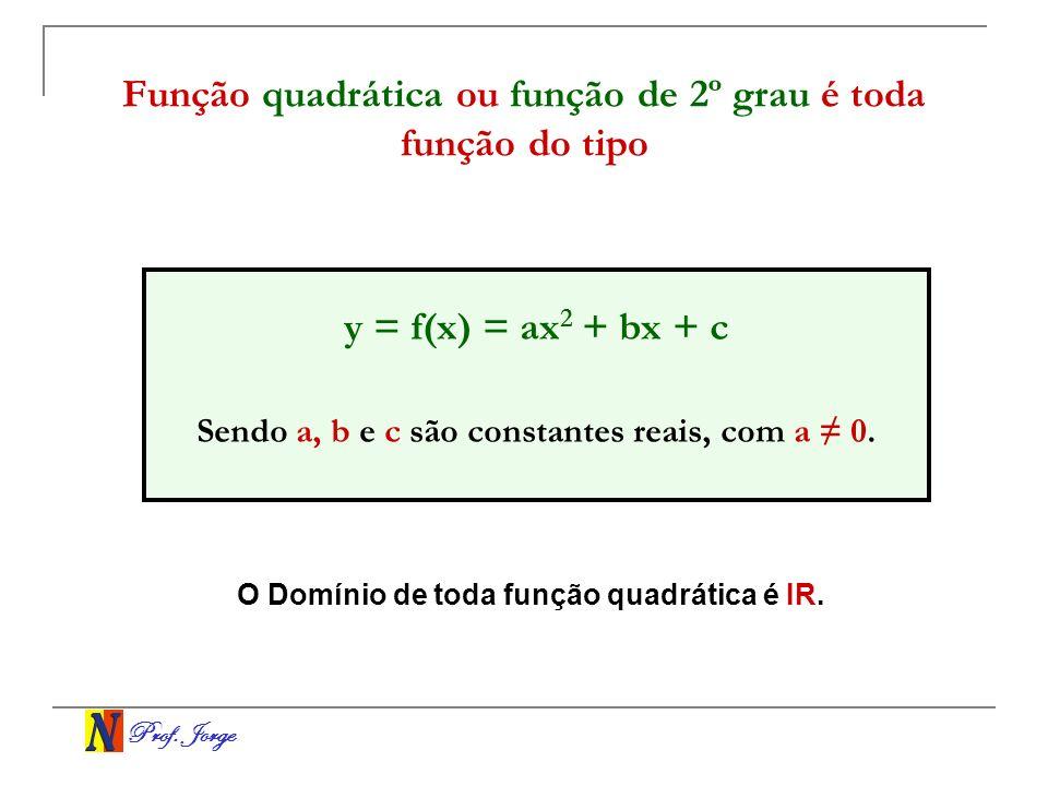 Função quadrática ou função de 2º grau é toda função do tipo