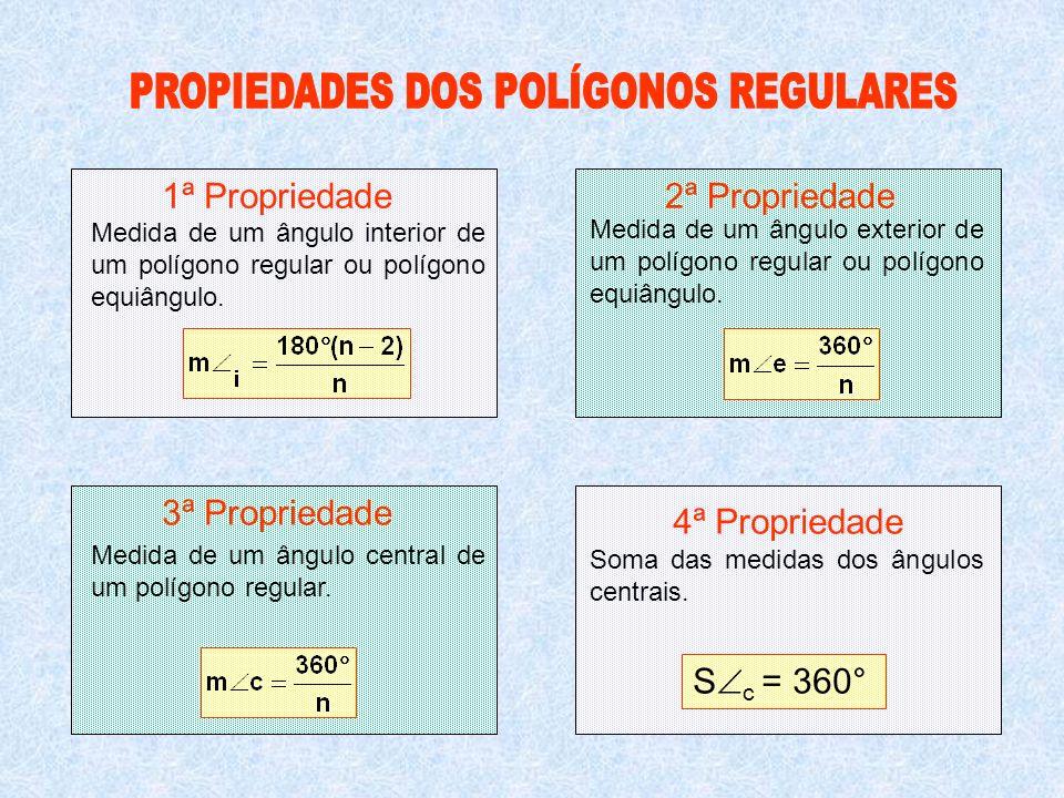PROPIEDADES DOS POLÍGONOS REGULARES