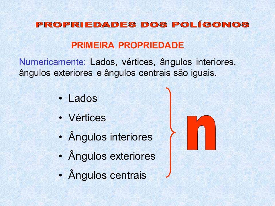 PROPRIEDADES DOS POLÍGONOS