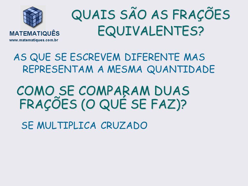 QUAIS SÃO AS FRAÇÕES EQUIVALENTES