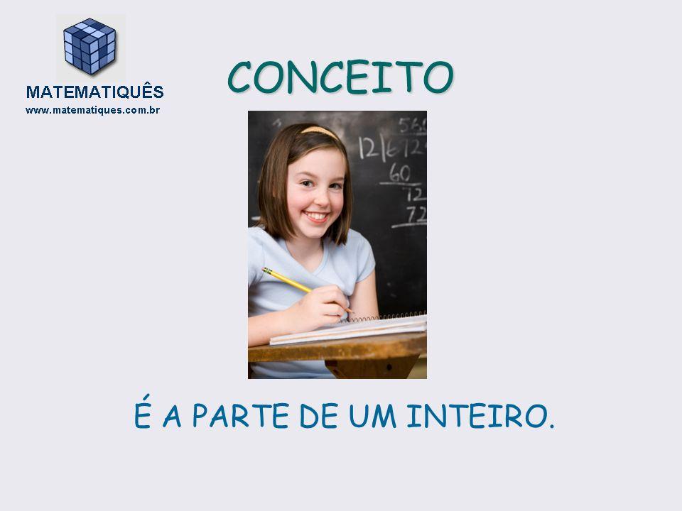 CONCEITO É A PARTE DE UM INTEIRO.
