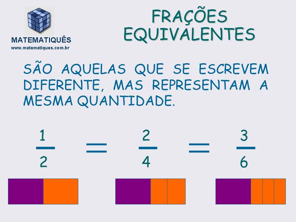   FRAÇÕES EQUIVALENTES 1 2 2 4 3 6