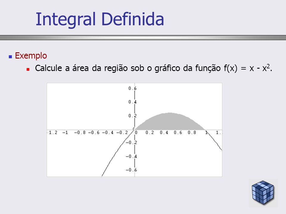 Integral Definida Exemplo