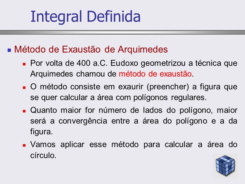 Integral Definida Método de Exaustão de Arquimedes