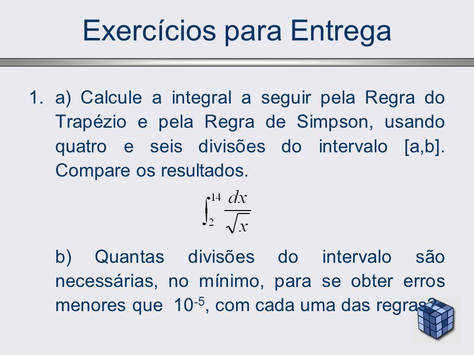 Exercícios para Entrega