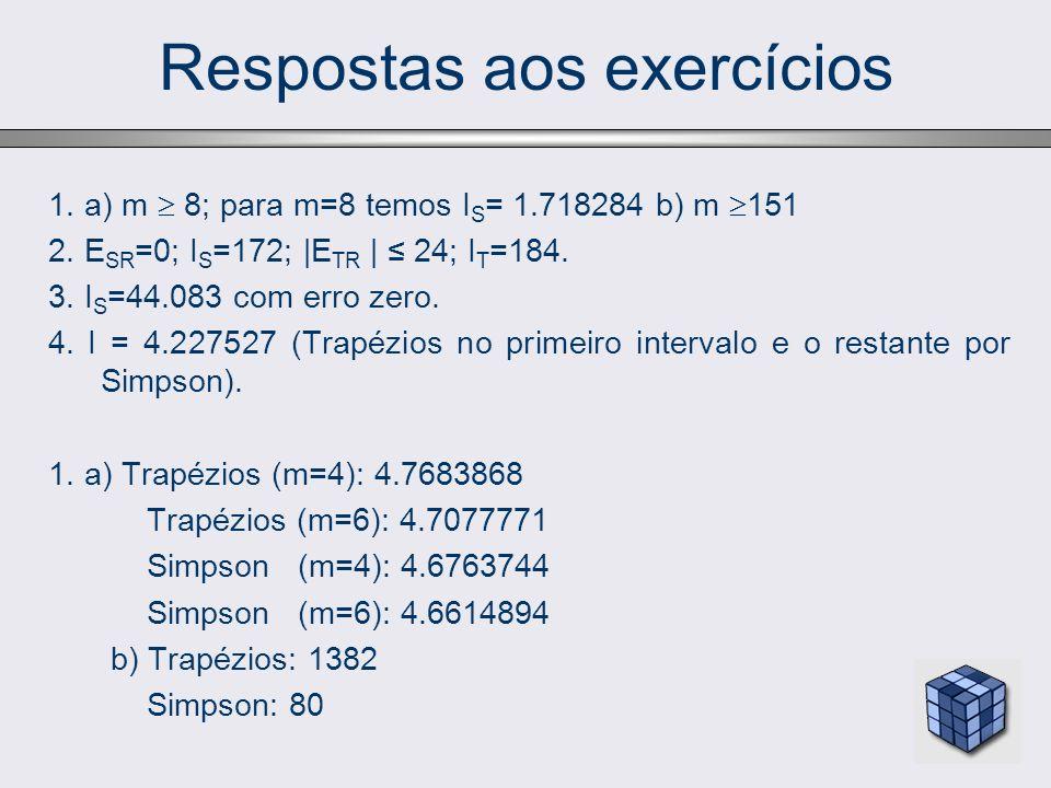 Respostas aos exercícios