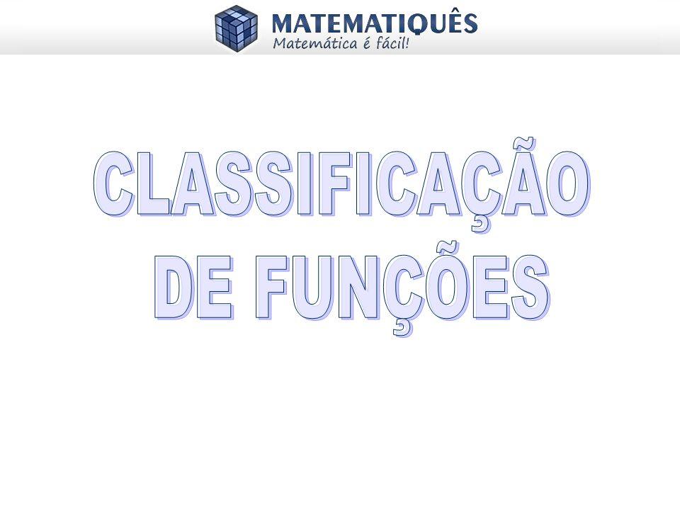 CLASSIFICAÇÃO DE FUNÇÕES