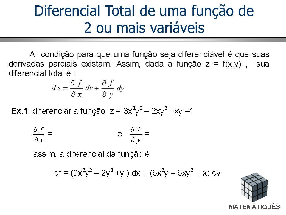 Diferencial Total de uma função de 2 ou mais variáveis
