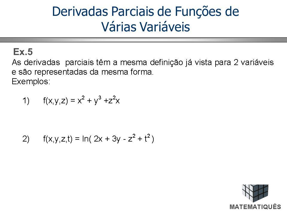 Derivadas Parciais de Funções de Várias Variáveis
