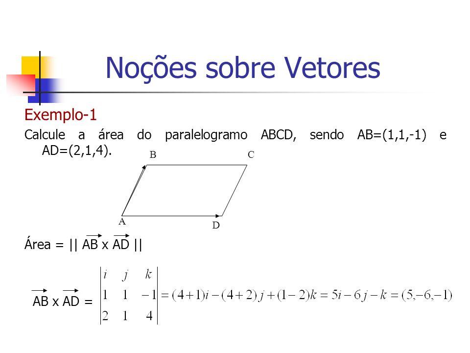 Noções sobre Vetores Exemplo-1