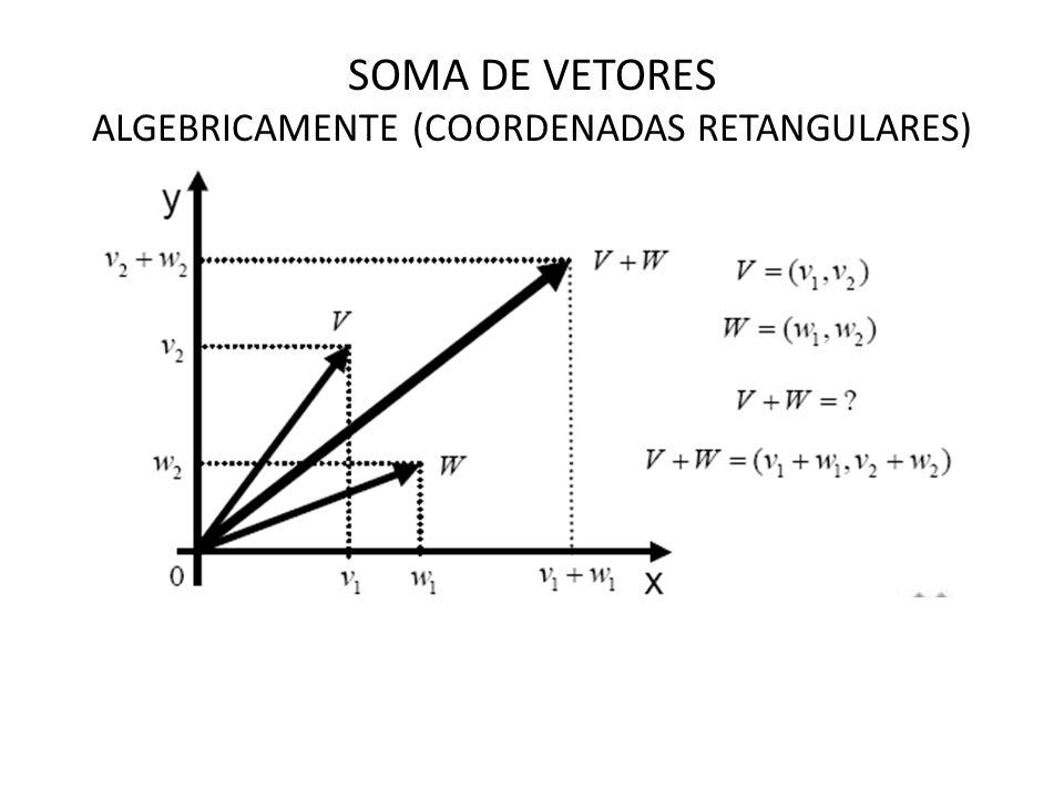 SOMA DE VETORES ALGEBRICAMENTE (COORDENADAS RETANGULARES)