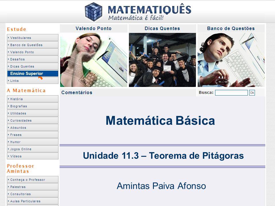 Unidade 11.3 – Teorema de Pitágoras