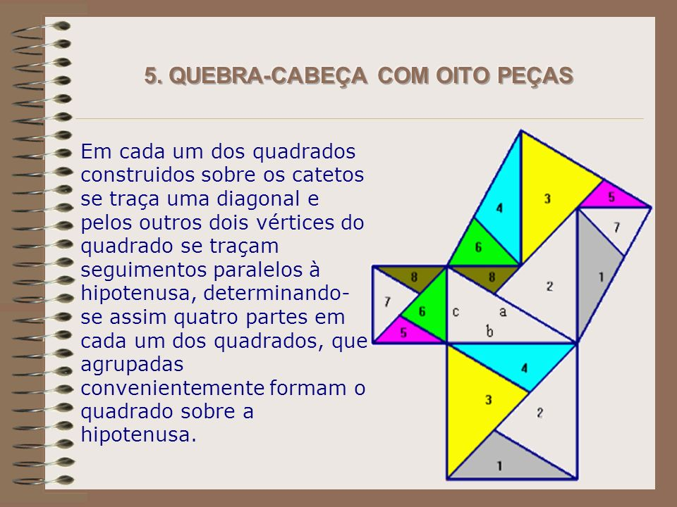 5. QUEBRA-CABEÇA COM OITO PEÇAS