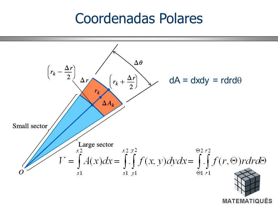 Coordenadas Polares dA = dxdy = rdrdq