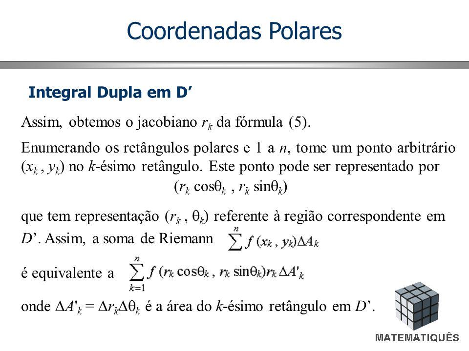 Coordenadas Polares Integral Dupla em D'