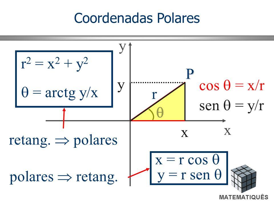 y r2 = x2 + y2 P y cos  = x/r  = arctg y/x r sen  = y/r  x x