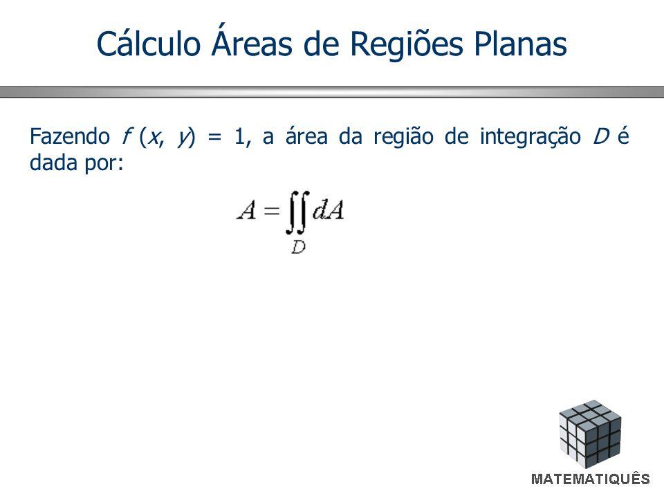 Cálculo Áreas de Regiões Planas