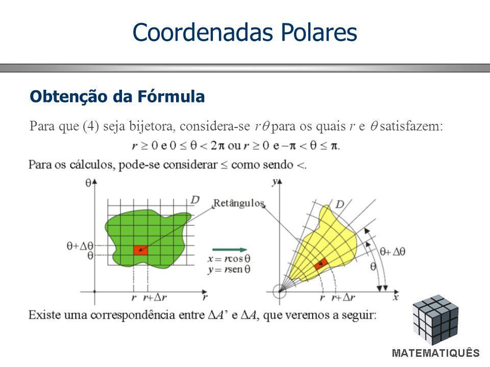 Coordenadas Polares Obtenção da Fórmula