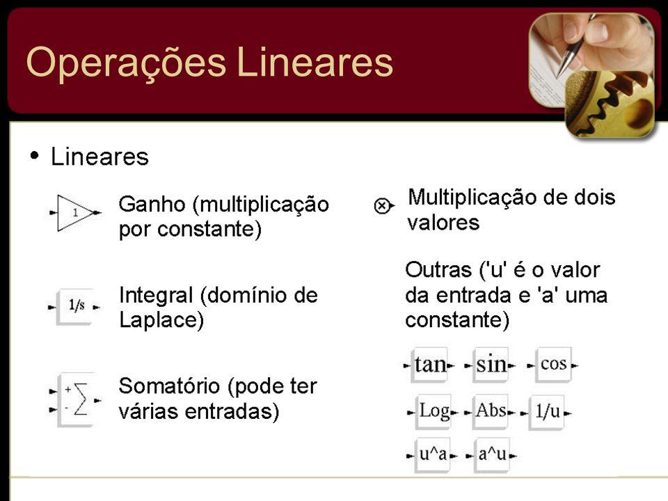 Operações Lineares