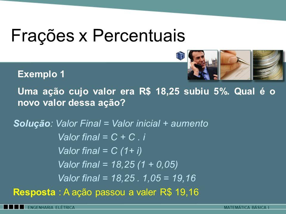 Frações x Percentuais Exemplo 1