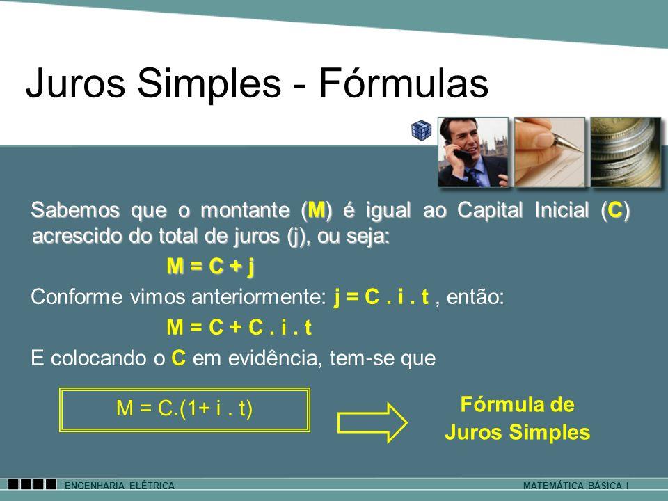 Juros Simples - Fórmulas