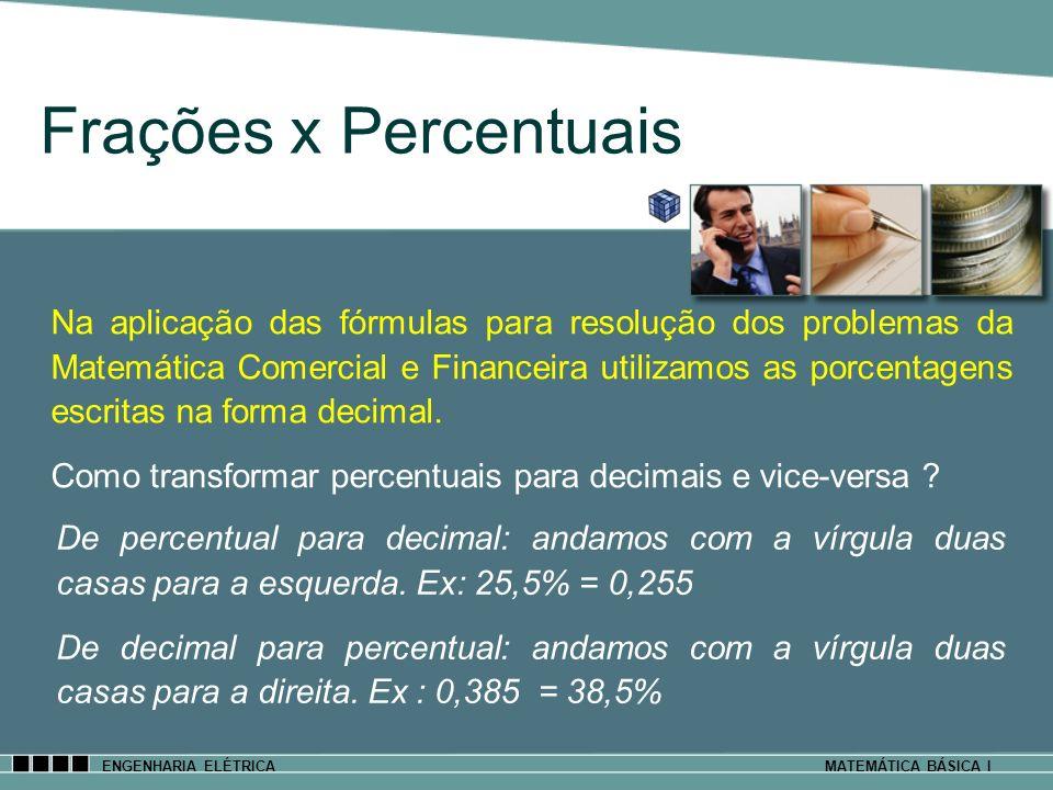 Frações x Percentuais